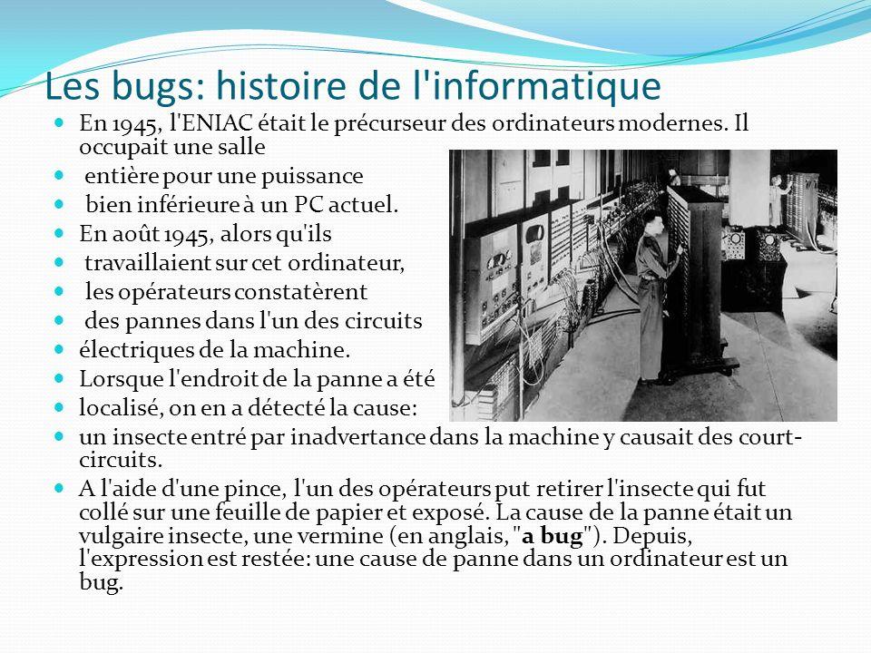 Les bugs: histoire de l informatique