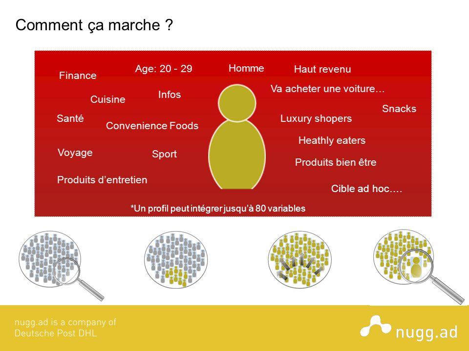Comment ça marche Age: 20 - 29 Homme Haut revenu Finance