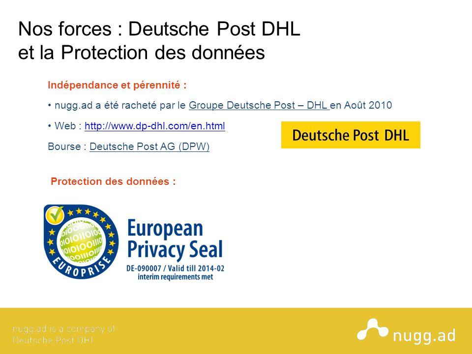 Nos forces : Deutsche Post DHL et la Protection des données