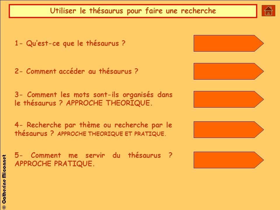 1- Qu'est-ce que le thésaurus