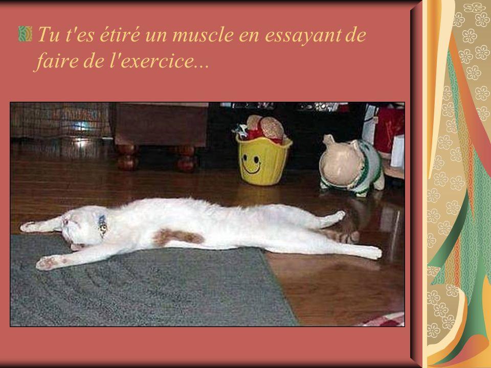 Tu t es étiré un muscle en essayant de faire de l exercice...