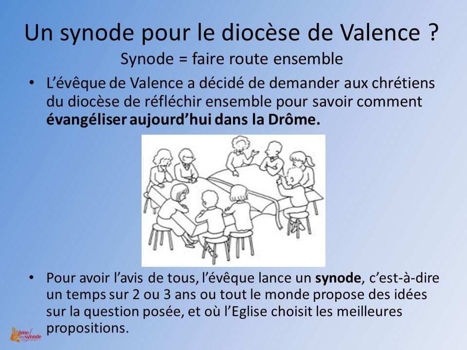 Un synode pour le diocèse de Valence Synode = faire route ensemble