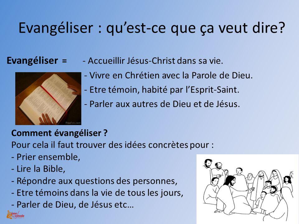 Evangéliser : qu'est-ce que ça veut dire