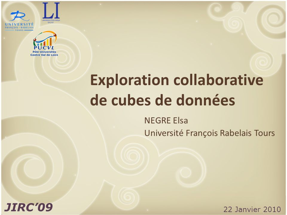 Exploration collaborative de cubes de données