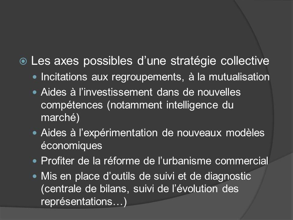 Les axes possibles d'une stratégie collective