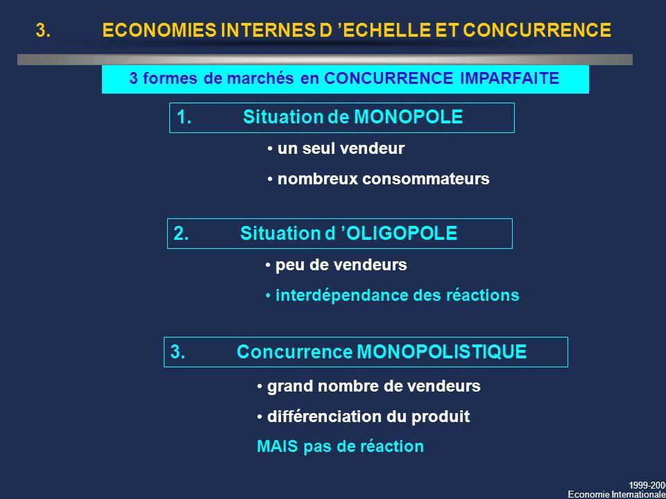 3. ECONOMIES INTERNES D 'ECHELLE ET CONCURRENCE
