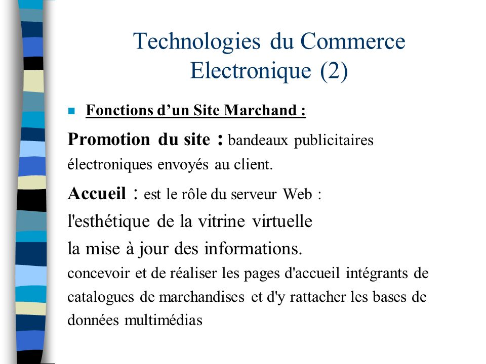 Technologies du Commerce Electronique (2)