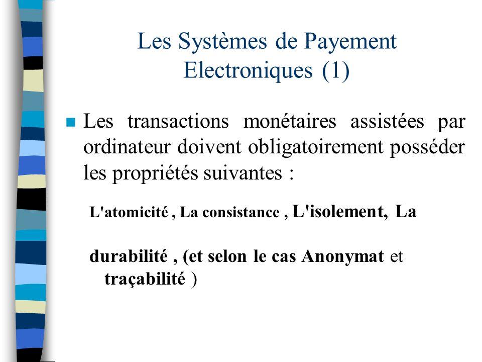 Les Systèmes de Payement Electroniques (1)