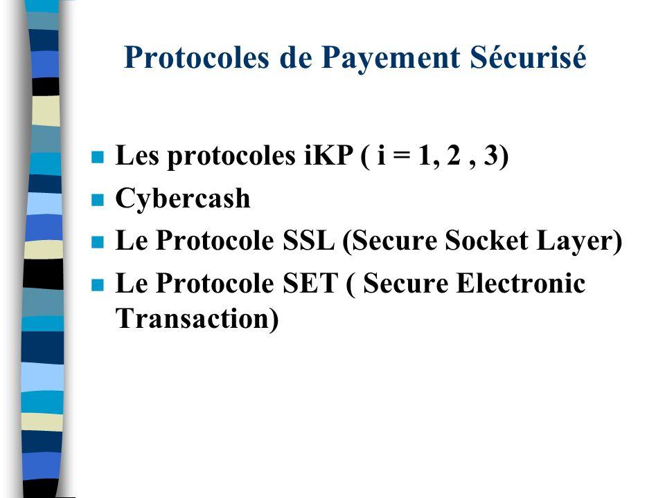 Protocoles de Payement Sécurisé