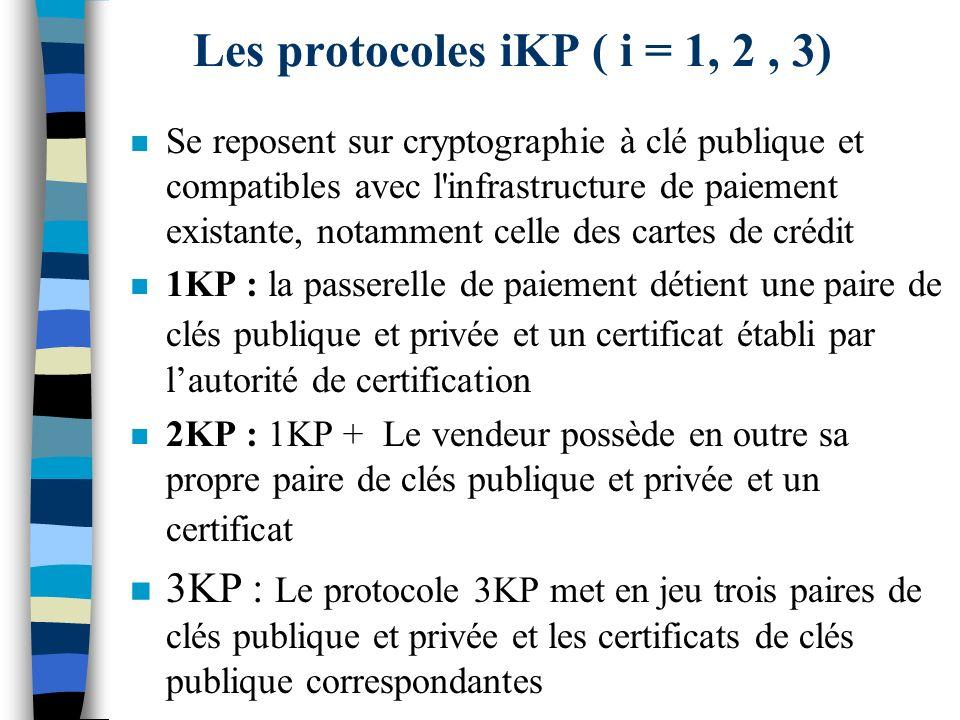 Les protocoles iKP ( i = 1, 2 , 3)