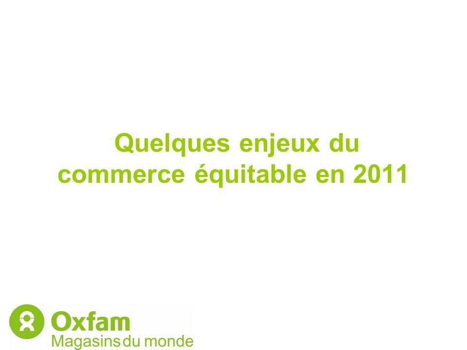 Quelques enjeux du commerce équitable en 2011