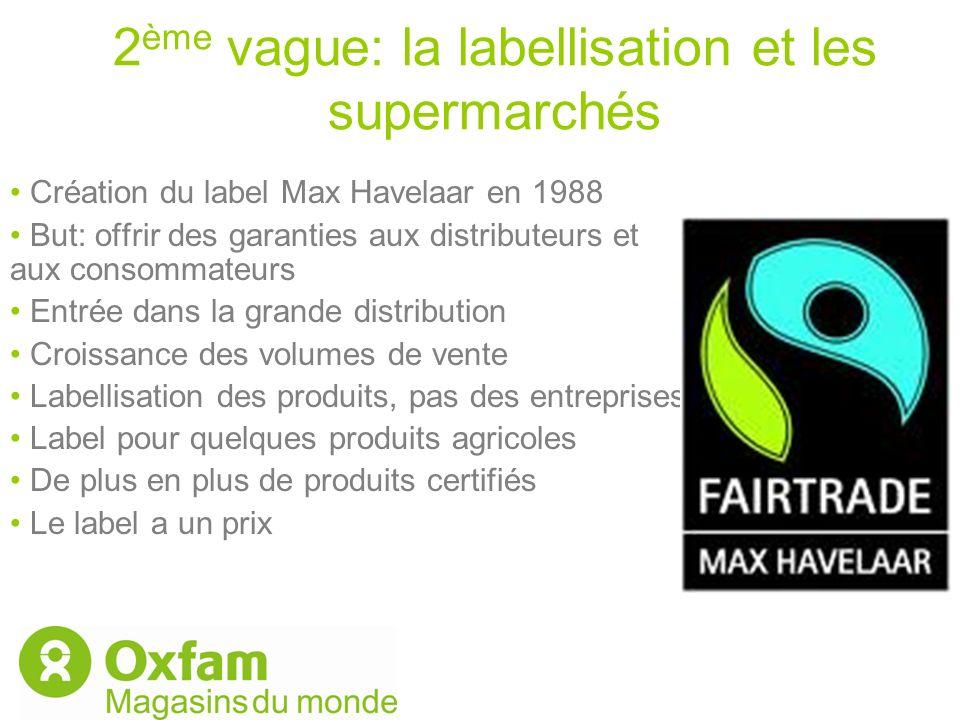 2ème vague: la labellisation et les supermarchés