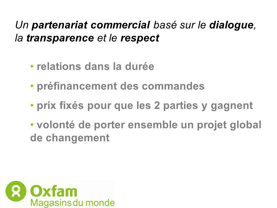 Un partenariat commercial basé sur le dialogue, la transparence et le respect