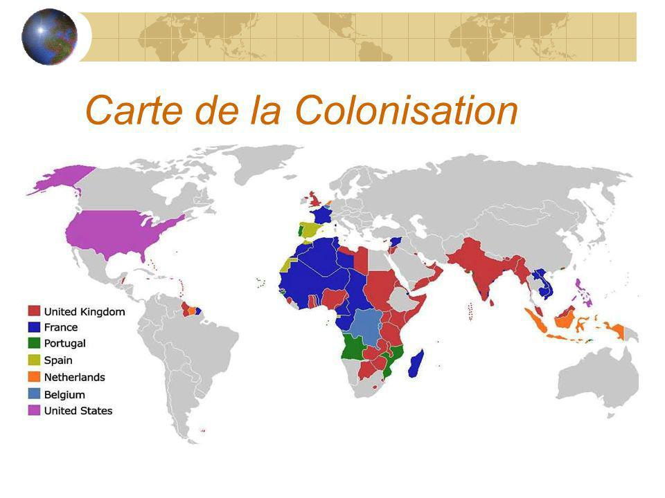 Carte de la Colonisation