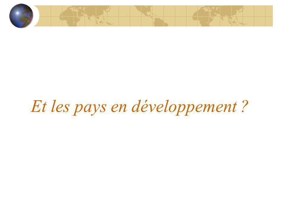 Et les pays en développement