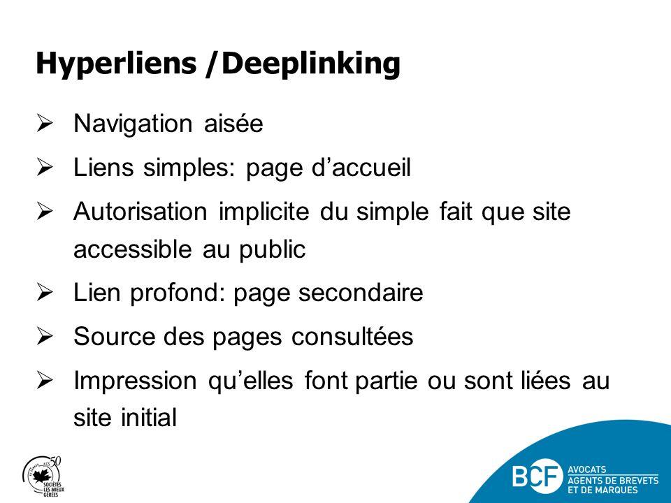 Hyperliens /Deeplinking