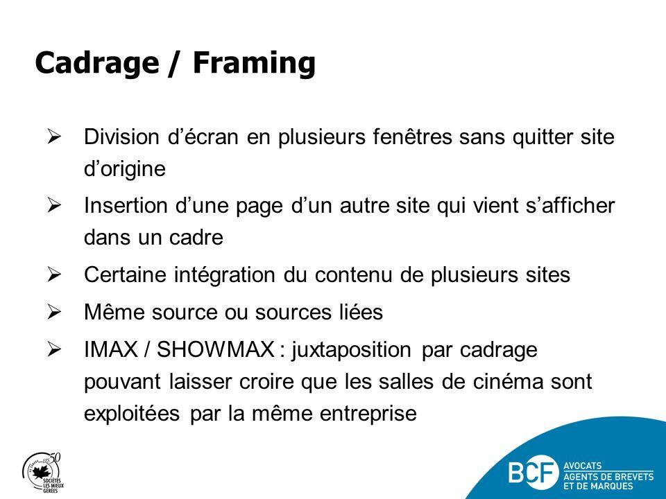 Cadrage / Framing Division d'écran en plusieurs fenêtres sans quitter site d'origine.