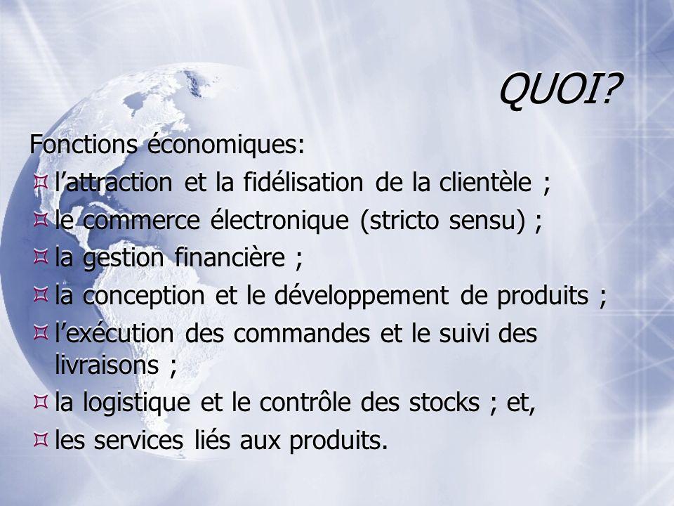 QUOI Fonctions économiques:
