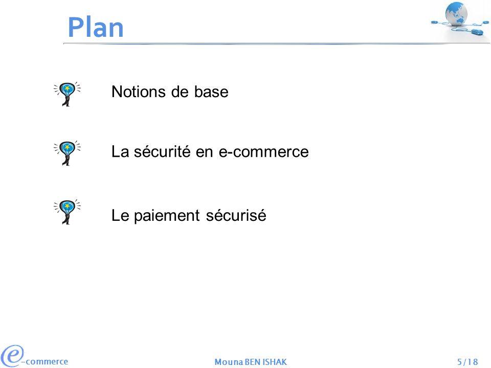 Plan Notions de base La sécurité en e-commerce Le paiement sécurisé