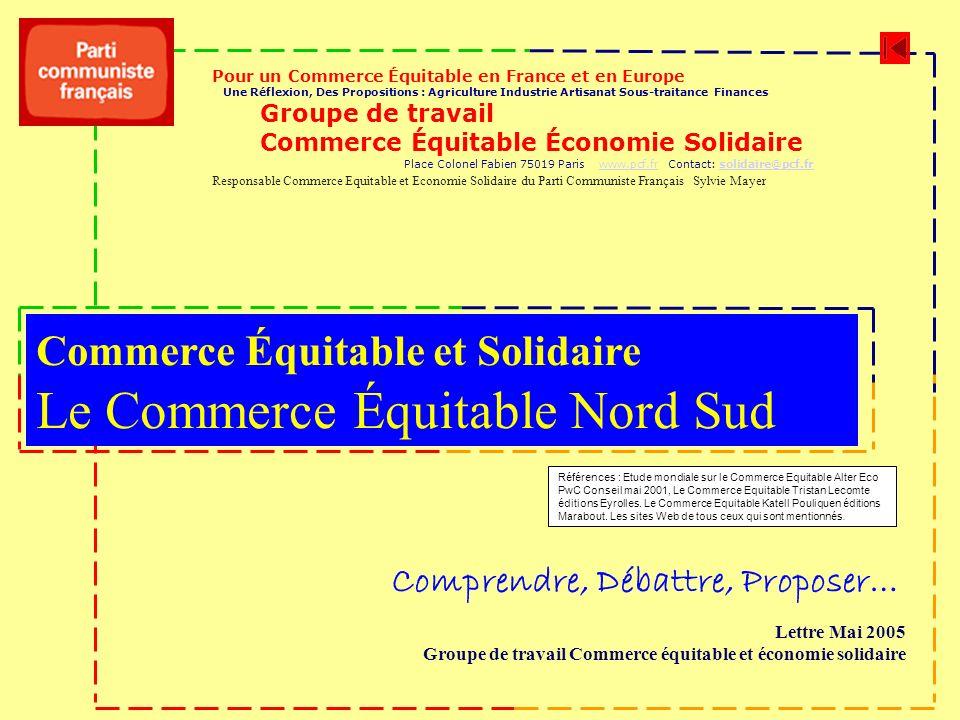 Le Commerce Équitable Nord Sud