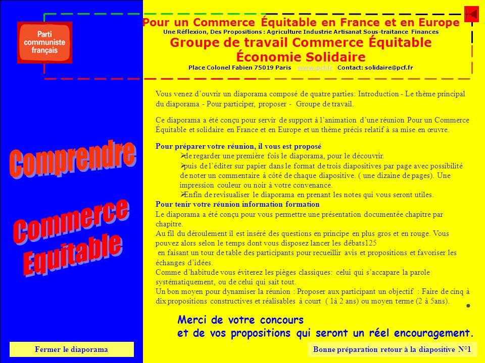 Comprendre Commerce Equitable . Groupe de travail Commerce Équitable
