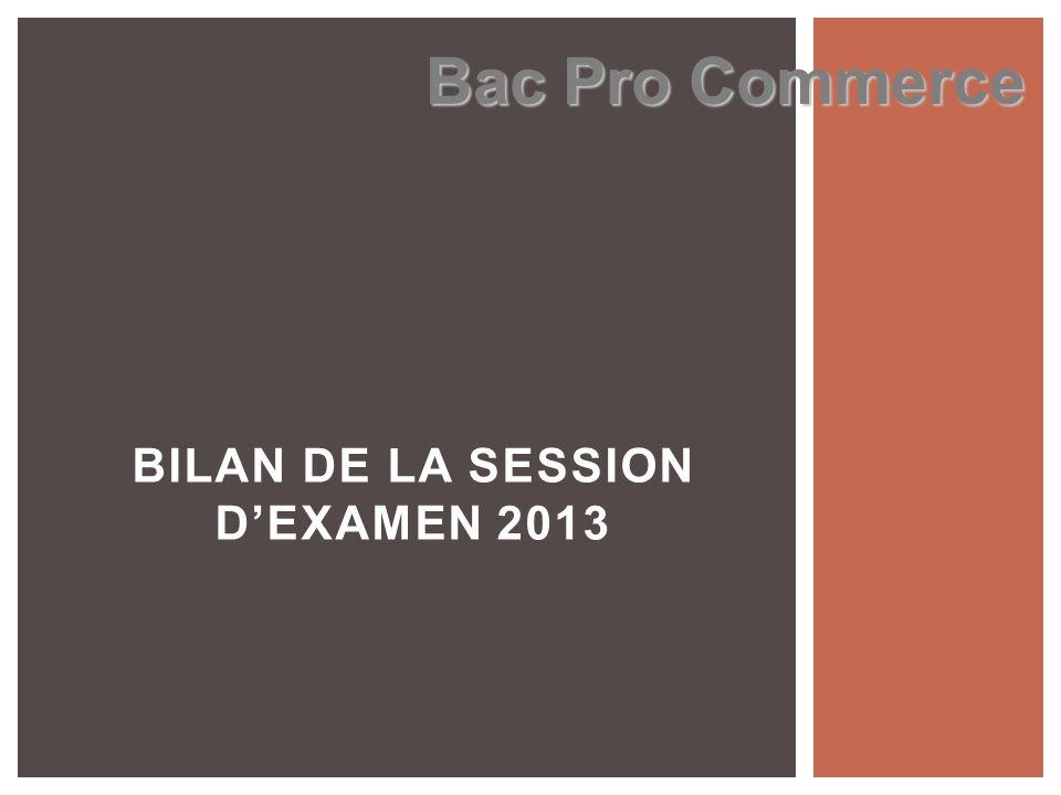 BILAN DE LA SESSION D'EXAMEN 2013