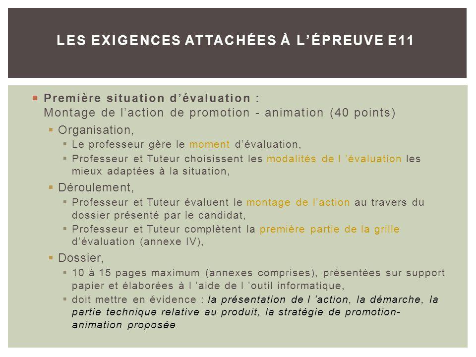 LES EXIGENCES ATTACHÉES À L'ÉPREUVE E11
