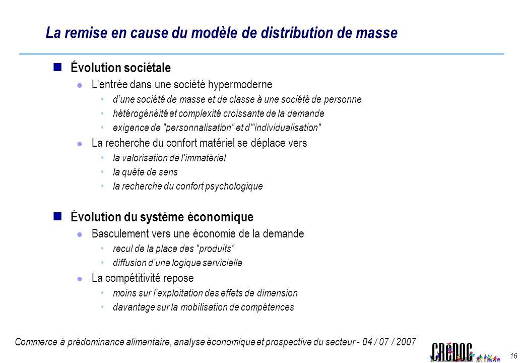La remise en cause du modèle de distribution de masse