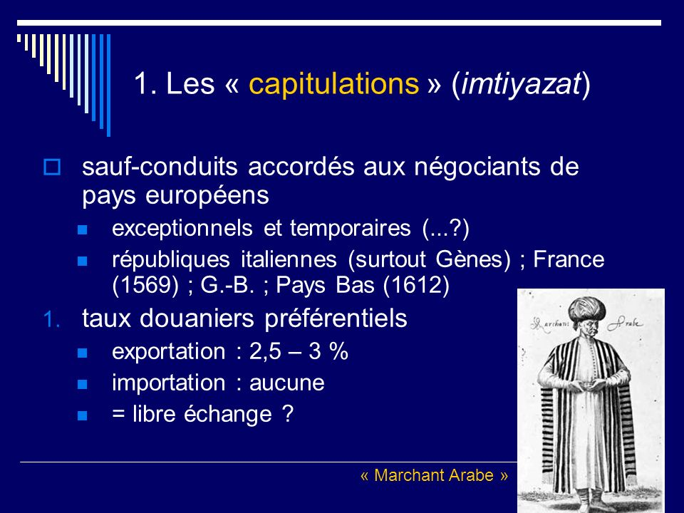 1. Les « capitulations » (imtiyazat)