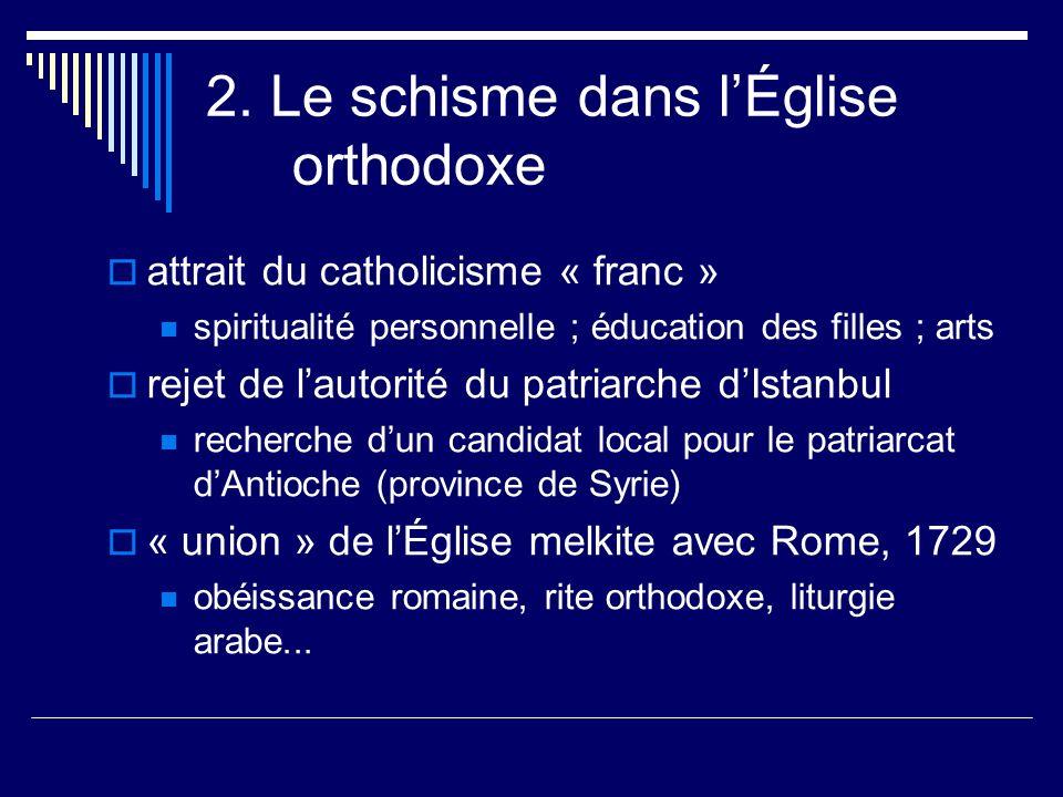 2. Le schisme dans l'Église orthodoxe