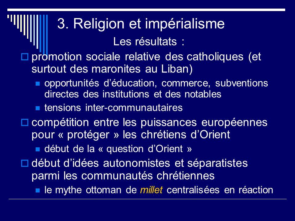 3. Religion et impérialisme