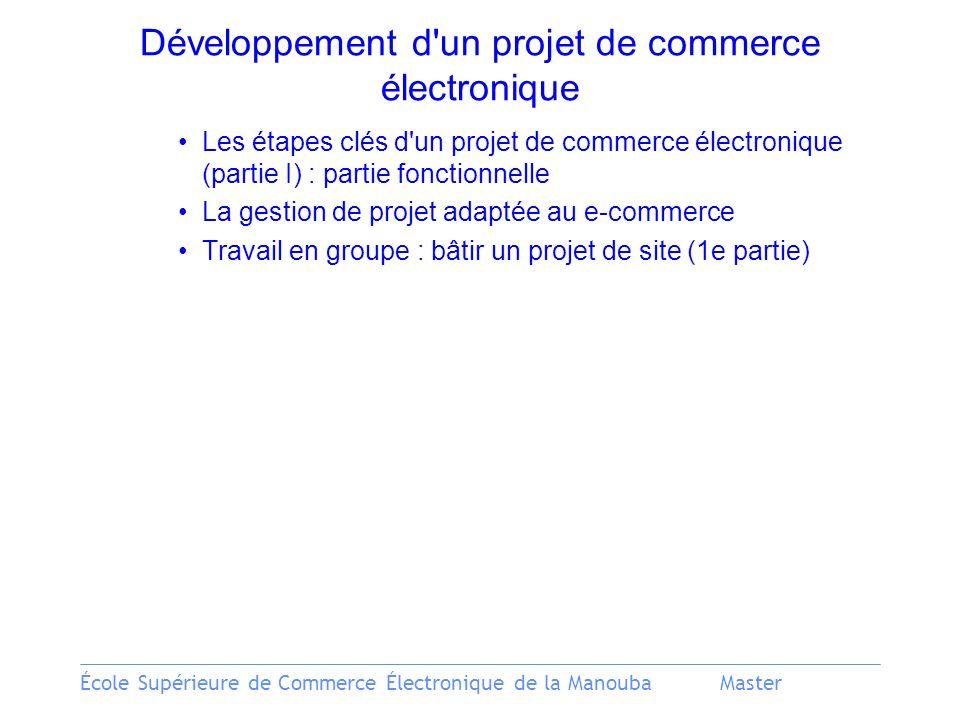 Développement d un projet de commerce électronique