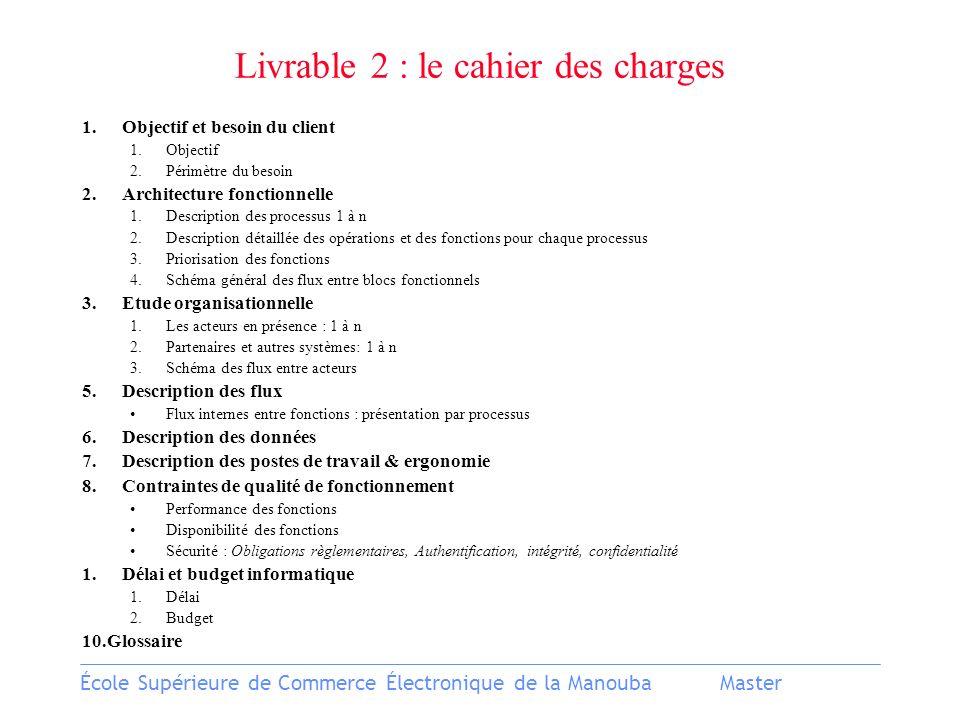 Livrable 2 : le cahier des charges