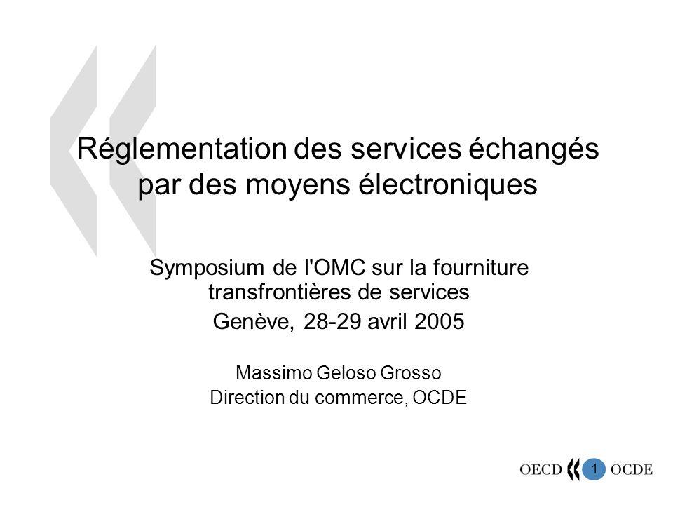 Réglementation des services échangés par des moyens électroniques
