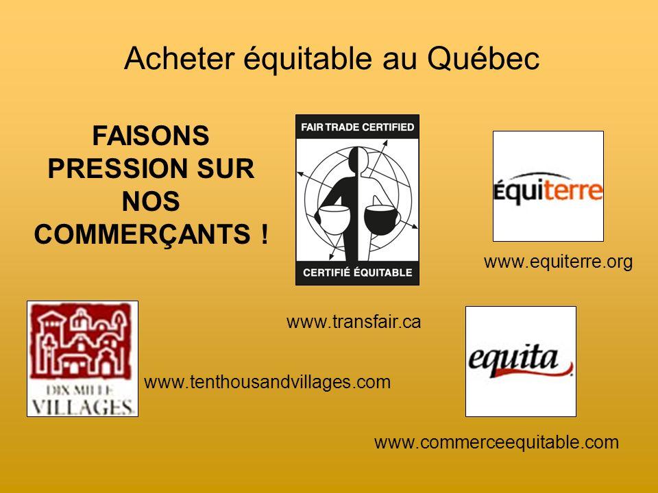 Acheter équitable au Québec