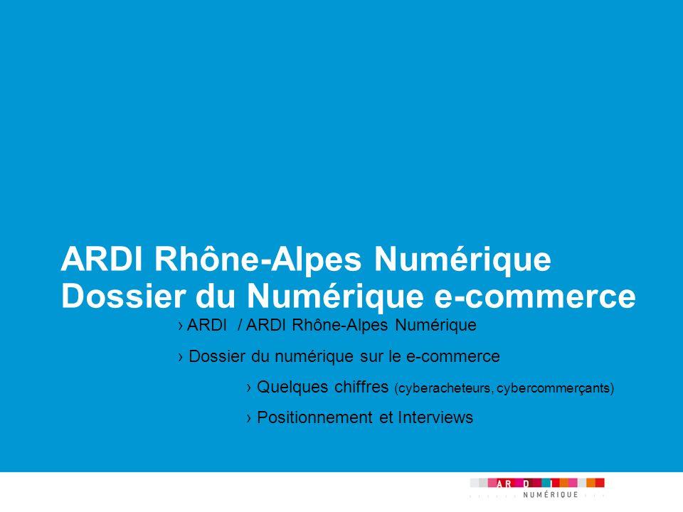 ARDI Rhône-Alpes Numérique Dossier du Numérique e-commerce