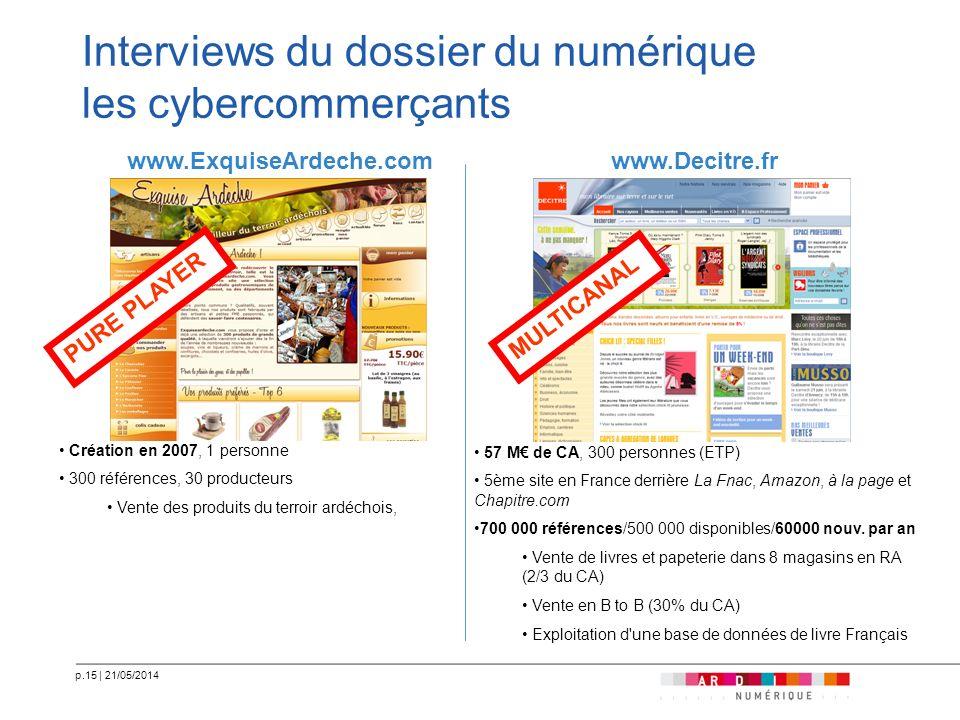 Interviews du dossier du numérique les cybercommerçants