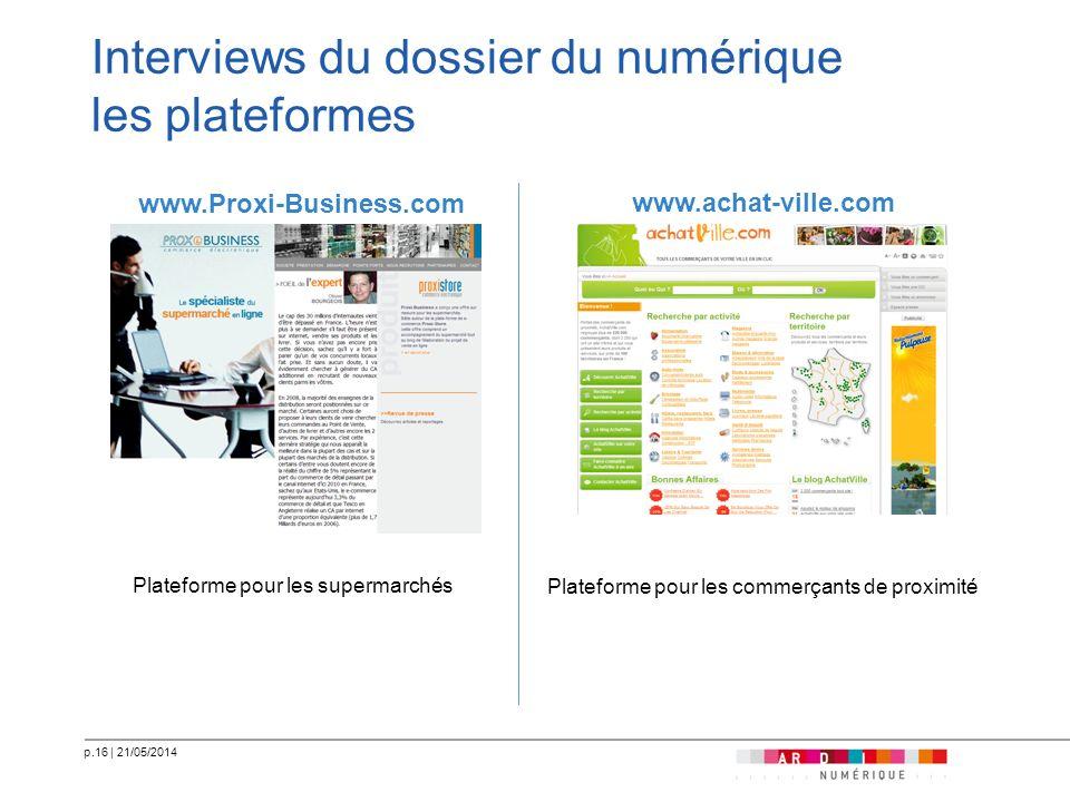 Interviews du dossier du numérique les plateformes