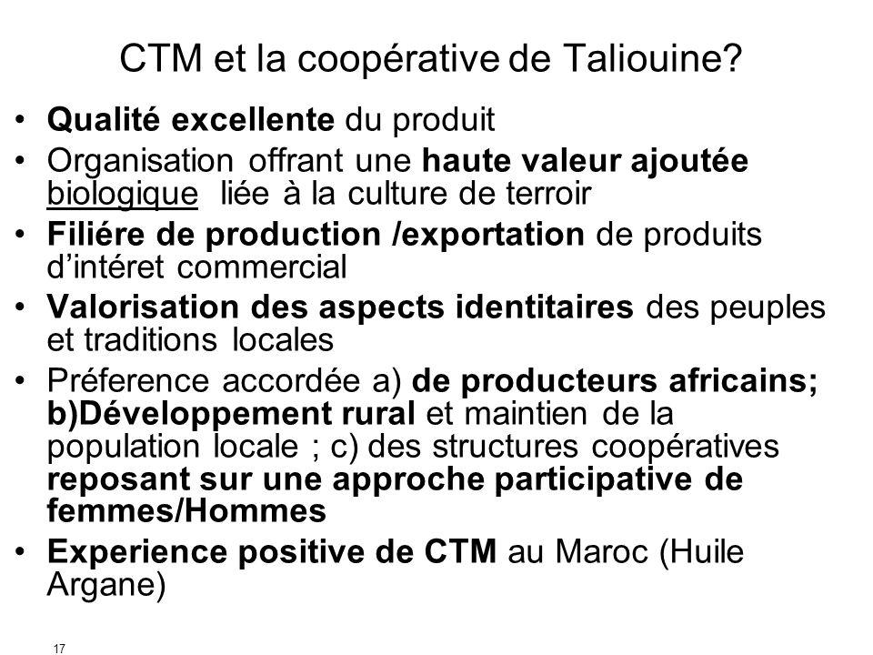 CTM et la coopérative de Taliouine