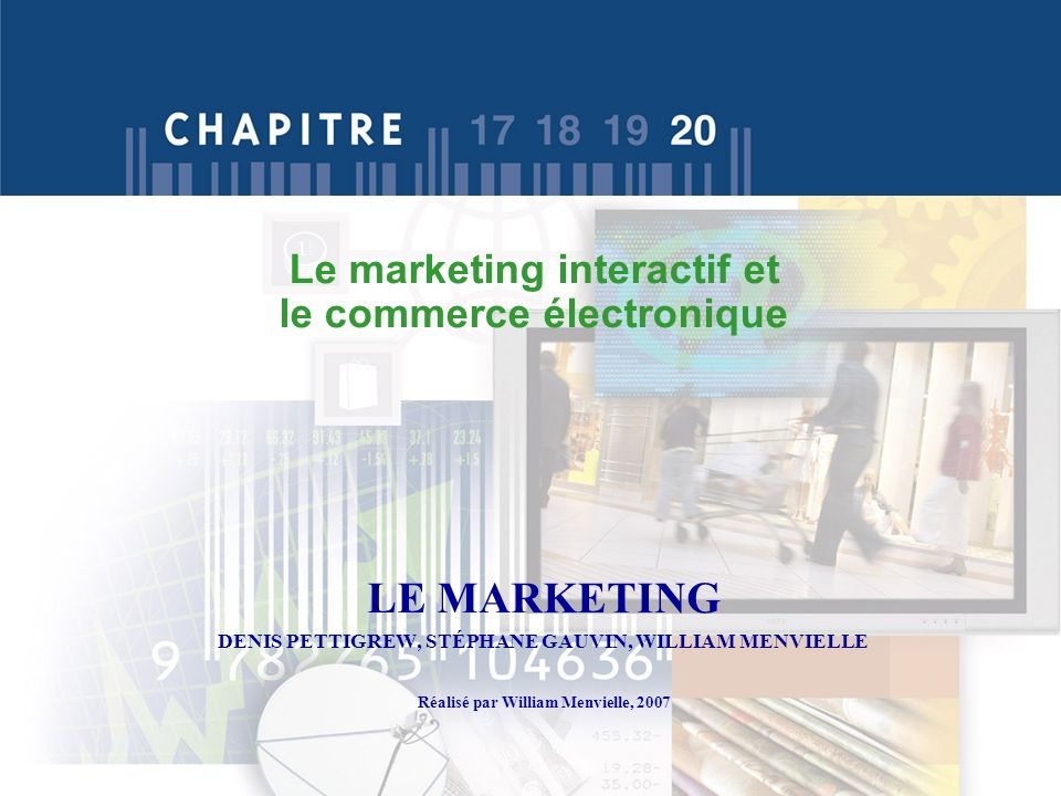 Le marketing interactif et le commerce électronique