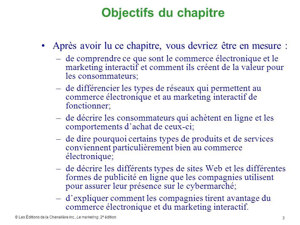 Objectifs du chapitre Après avoir lu ce chapitre, vous devriez être en mesure :
