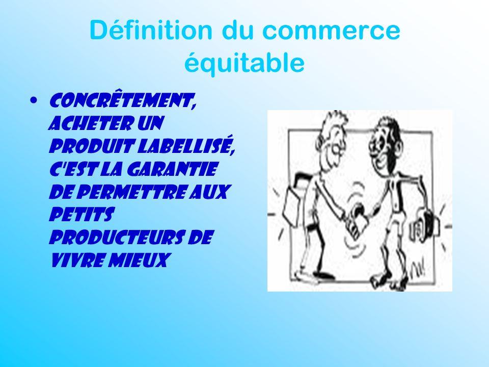 Définition du commerce équitable