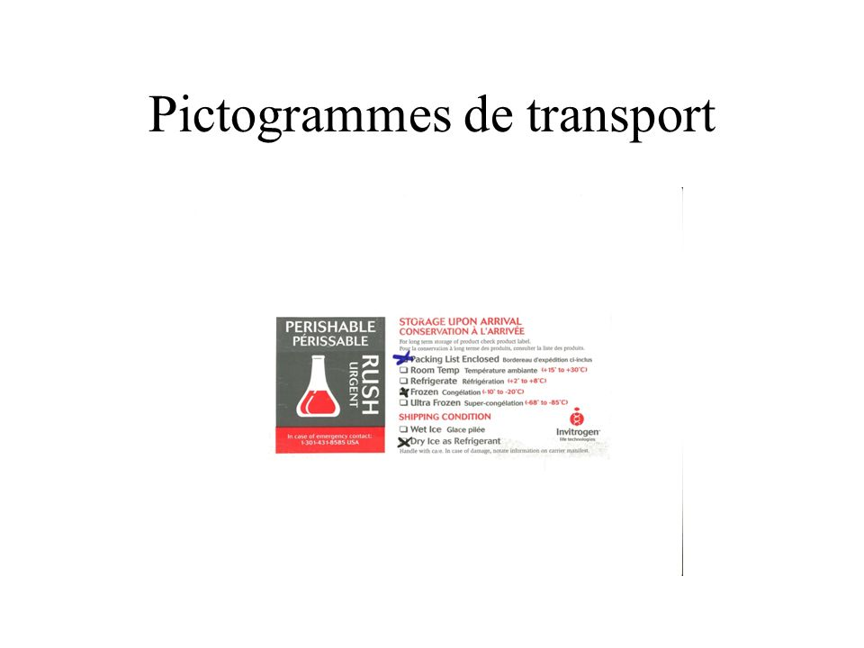 Pictogrammes de transport