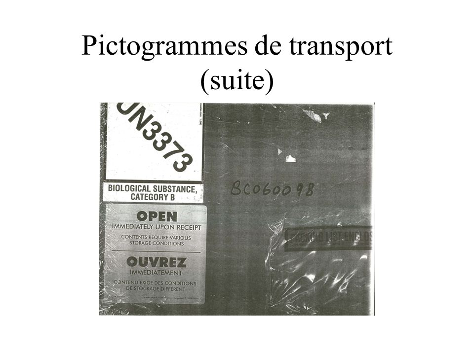 Pictogrammes de transport (suite)
