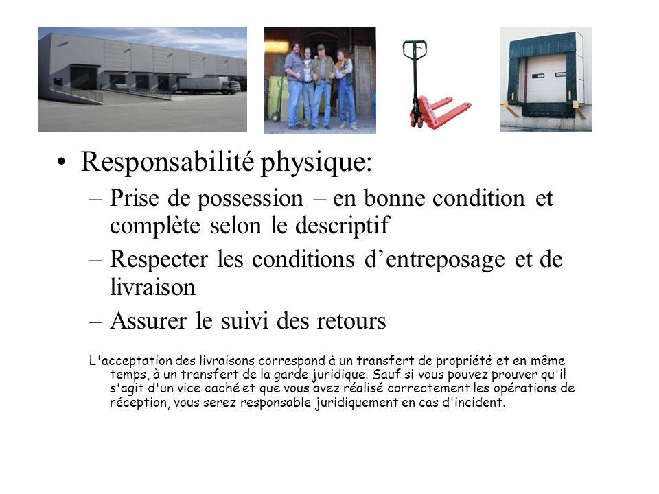 Responsabilité physique: