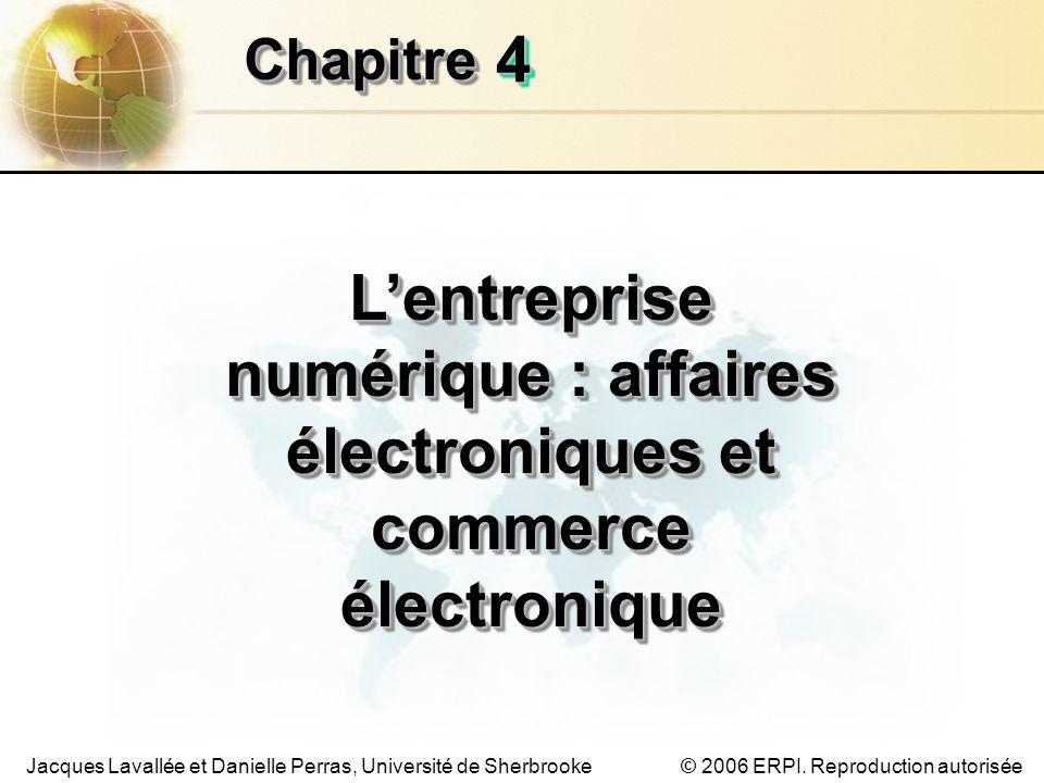 Chapitre 4 L'entreprise numérique : affaires électroniques et commerce électronique