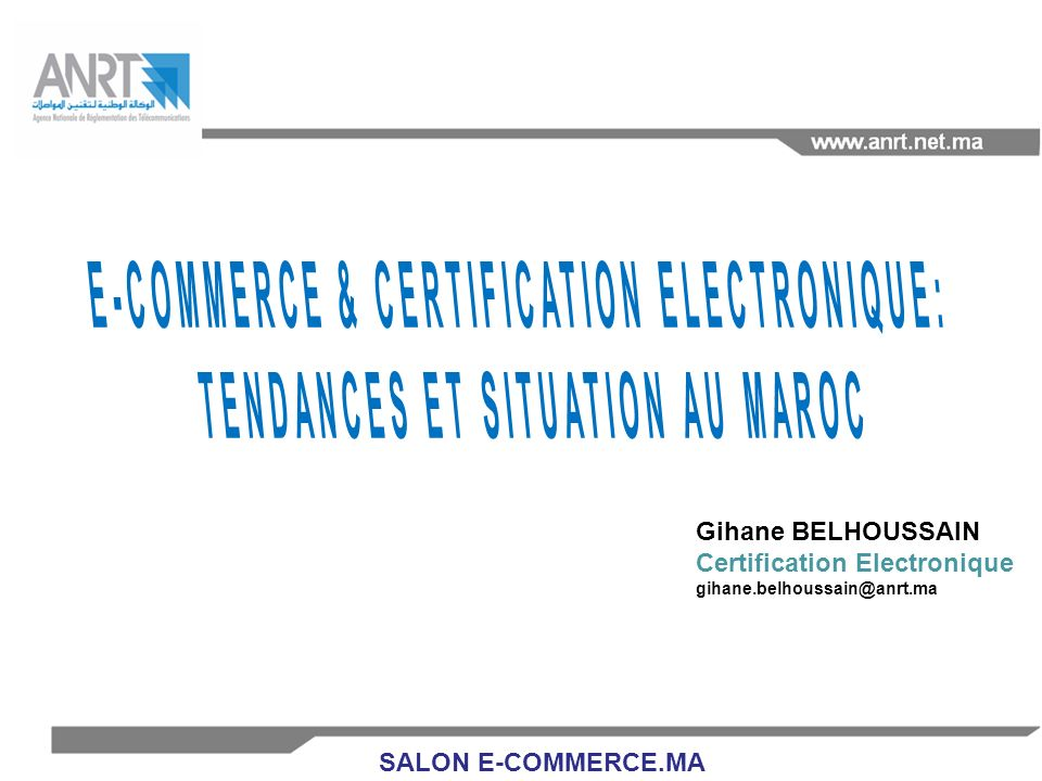 E-COMMERCE & CERTIFICATION ELECTRONIQUE: