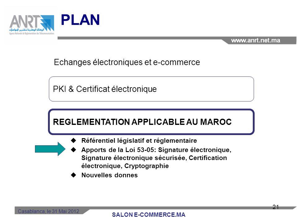 PLAN Echanges électroniques et e-commerce