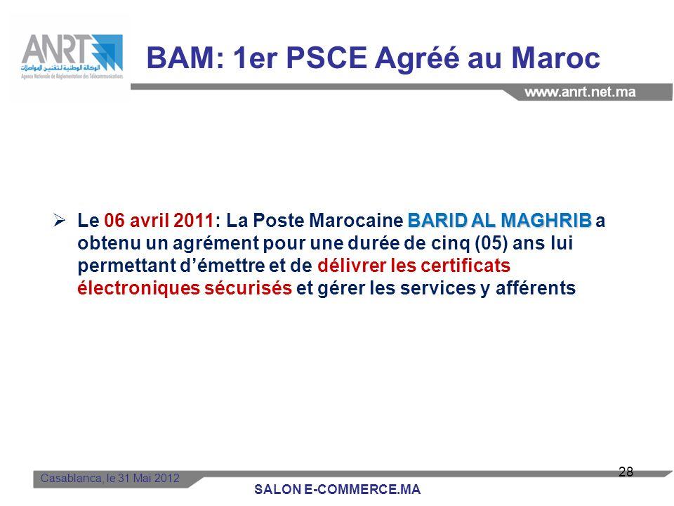 BAM: 1er PSCE Agréé au Maroc
