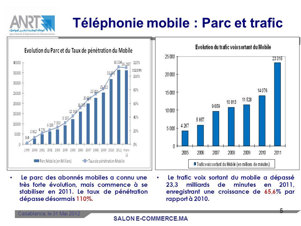 Téléphonie mobile : Parc et trafic